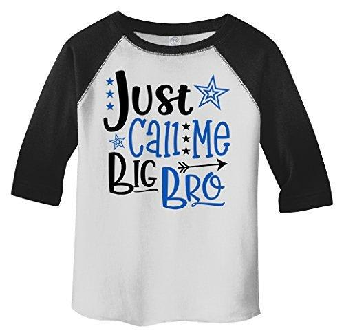 Shirts By Sarah Boy's Toddler Just Call Me Big Bro 3/4 Sleeve Raglan Brother Tee-Shirts By Sarah