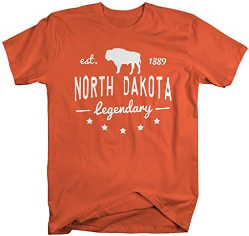 Shirts By Sarah Men's North Dakota State Slogan Shirt Legendary Buffalo T-Shirt Est. 1889-Shirts By Sarah