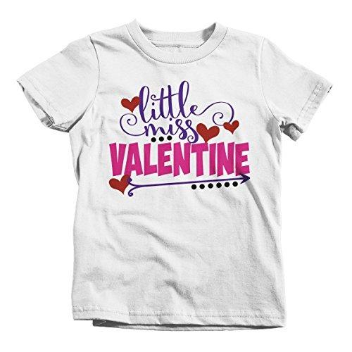 Shirts By Sarah Girl's Little Miss Valentine Funny Valentines Day T-Shirt-Shirts By Sarah
