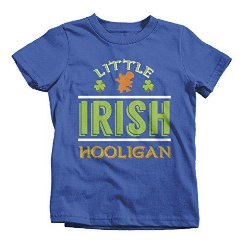 Shirts By Sarah Boy's Funny ST. Patrick's Day T-Shirt Little Irish Hooligan Tee-Shirts By Sarah