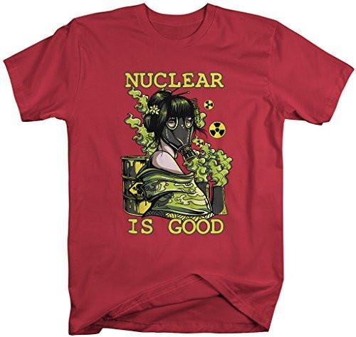 Shirts By Sarah Men's Grunge Nuclear Is Good Ironic T-Shirt Hipster Shirts-Shirts By Sarah