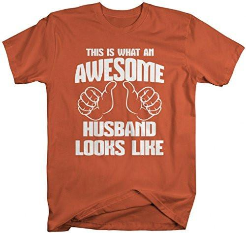Shirts By Sarah Men's Awesome Husband T-Shirt Anniversary Shirts-Shirts By Sarah