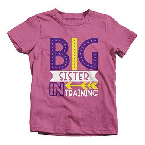 Girl S Big Sister In Training T Shirt Promoted Shirt Baby