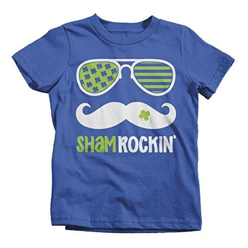 Shirts By Sarah Youth Sham Rockin' Hipster ST. Patrick's Day T-Shirt Funny Shirt Glasses-Shirts By Sarah