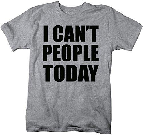 Shirts By Sarah Men's Funny I Can't People Today Antisocial T-Shirt-Shirts By Sarah