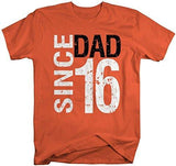 Shirts By Sarah Men's Dad Since 2016 T-Shirt Distressed Father's Day Shirt-Shirts By Sarah