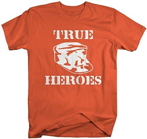 Shirts By Sarah Men's True Heros Military Shirt Support Troops T-Shirts-Shirts By Sarah