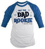 Shirts By Sarah Men's First Time Dad T-Shirt Rookie Shirt Since 2019 3/4 Sleeve Raglan-Shirts By Sarah