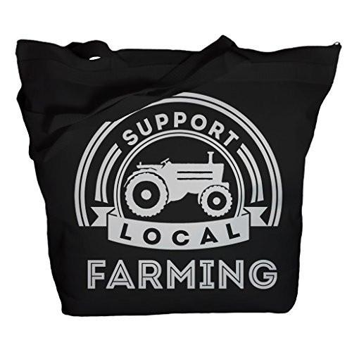 Shirts By Sarah Tote Bag Support Local Farming Tractor Market Bags-Shirts By Sarah