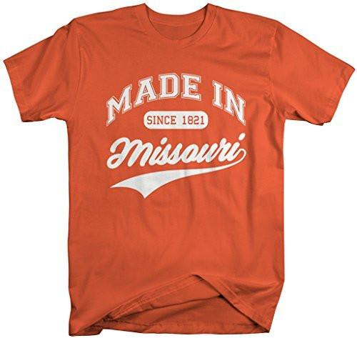 Shirts By Sarah Men's Made In Missouri T-Shirt Since 1821 State Pride Shirts-Shirts By Sarah