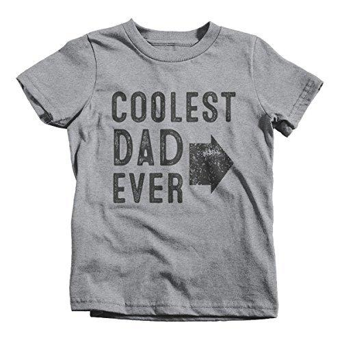 Shirts By Sarah Youth Matching Coolest Dad Ever T-Shirt Boy's Girl's Left-Shirts By Sarah
