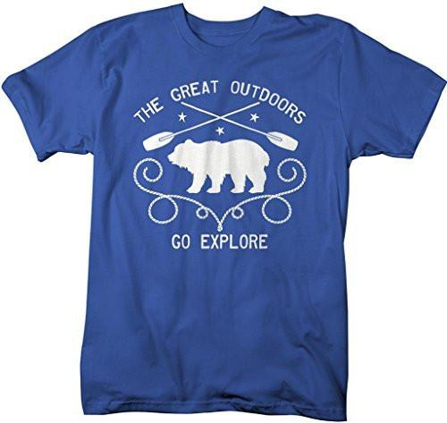 Shirts By Sarah Men's Great Outdoors Go Explore T-Shirt Hipster Shirts-Shirts By Sarah