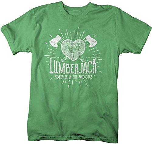 Men's Lumberjack T-Shirt Forever in Woods Logger Logging Tee Shirt-Shirts By Sarah