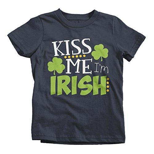Shirts By Sarah Youth Funny ST. Patrick's Day T-Shirt Kiss Me I'm Irish Toddler-Shirts By Sarah