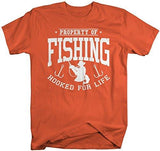 Shirts By Sarah Men's Property Of Fishing T-Shirt Fisherman Shirts-Shirts By Sarah