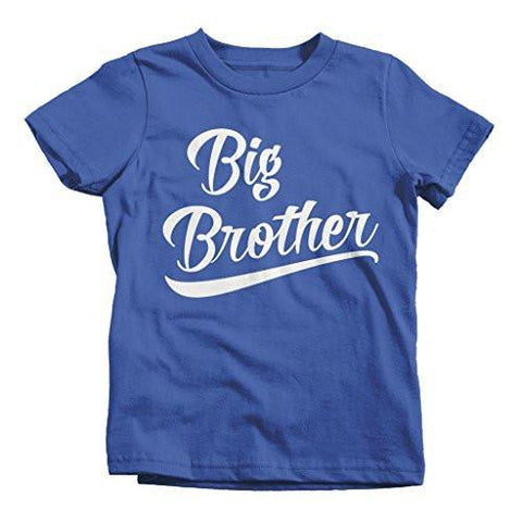 Shirts By Sarah Boy's Big Brother T-Shirt Sibling Shirts Matching Tees - Royal Blue / 2T - 1