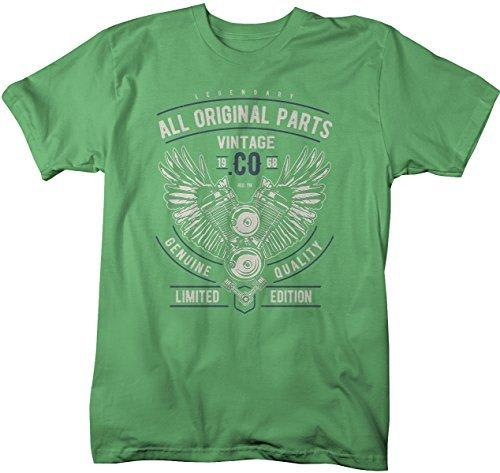 Shirts By Sarah Men's Vintage 1968 Original Parts Engine T-Shirt Fifty Gift Idea Tee-Shirts By Sarah