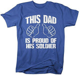 Shirts By Sarah Men's This Dad Proud Of His Soldier T-Shirt Support Tee-Shirts By Sarah
