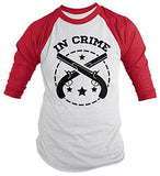 Shirts By Sarah Unisex Best Friends Partners In Crime Shirts - Crime 3/4 Sleeve Raglan - Red/White / XX-Large - 7