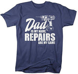 Shirts By Sarah Men's Funny Dad Is Name Repairs Game Shirt Gift Father's Day-Shirts By Sarah