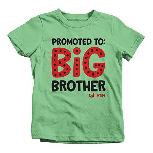 Shirts By Sarah Boy's Promoted to Big Brother EST. 2019 Baby Reveal T-Shirt Cute Shirt-Shirts By Sarah