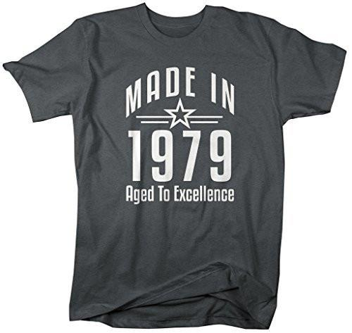 Shirts By Sarah Men's Made In 1979 Birthday T-Shirt Aged To Excellence Shirts-Shirts By Sarah
