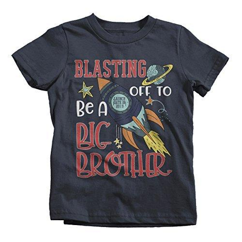 Shirts By Sarah Boy's Big Brother T-Shirt Rocket Space Launch 2019 Shirt-Shirts By Sarah