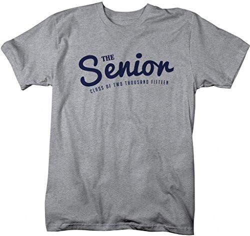 Shirts By Sarah Men's The Senior Class Of Two Thousand Fifteen 2015 Shirts-Shirts By Sarah