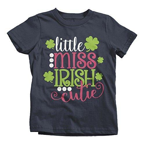 Shirts By Sarah Girl's Little Miss Irish Cutie T-Shirt ST. Patrick's Day-Shirts By Sarah