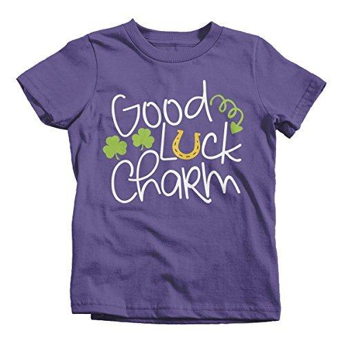 Shirts By Sarah Youth Funny Cute ST. Patrick's Day T-Shirt Good Luck Charm Toddler-Shirts By Sarah