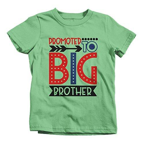 Shirts By Sarah Boy's Promoted to Big Brother Dotty T-Shirt Cute Shirt Promoted to T-Shirt-Shirts By Sarah