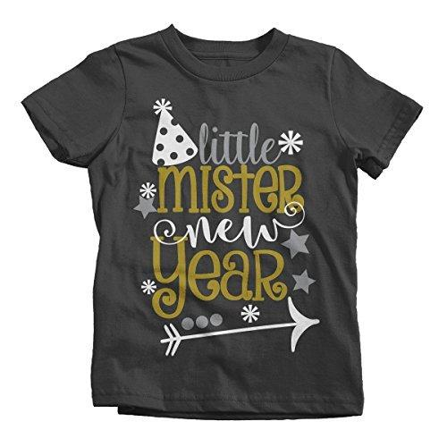 Shirts By Sarah Boy's Little Mister New Year T-Shirt Year's Party Hat Tee-Shirts By Sarah