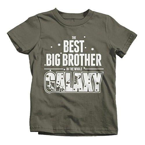 Shirts By Sarah Boy's Best Big Brother In Galaxy T-Shirt Cute Space Shirt-Shirts By Sarah