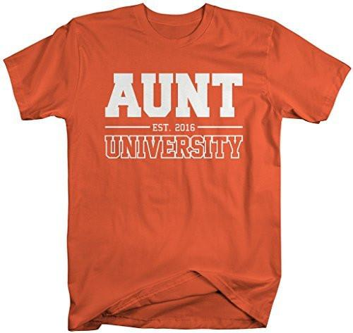 Shirts By Sarah Women's Unisex Aunt University Est. 2016 T-Shirt Mother's Day Shirts-Shirts By Sarah