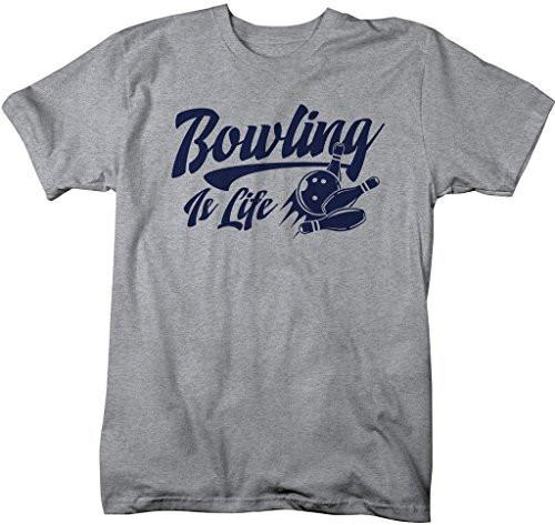 Shirts By Sarah Men's Bowling Is Life T-Shirt Bowler Shirts-Shirts By Sarah