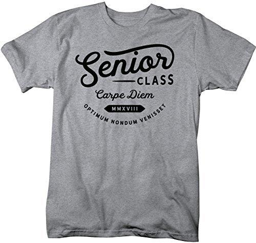 Shirts By Sarah Men's 2018 Senior T-Shirt Latin Carpe Diem Vintage Graduate Shirt-Shirts By Sarah