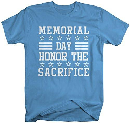 Shirts By Sarah Men's Memorial Day T-Shirt Honor Sacrfice Shirts-Shirts By Sarah
