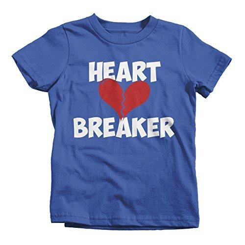 Shirts By Sarah Youth Heart Breaker Kids Funny Valentine's Day T-Shirt Boy's Girl's-Shirts By Sarah
