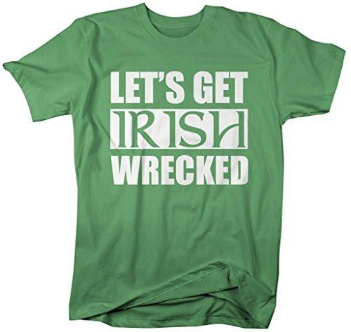 Shirts By Sarah Men's Let's Get Irish Wrecked St. Patrick's Day T-Shirt-Shirts By Sarah