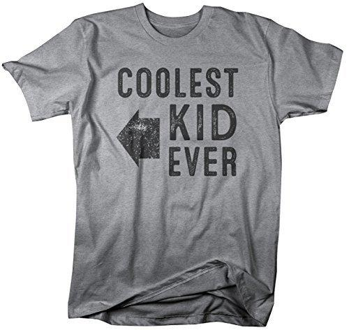 Shirts By Sarah Men's Matching Father Dad Son Daughter T-Shirt Coolest Kid Ever-Shirts By Sarah
