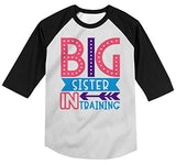 Shirts By Sarah Girl's Toddler Big Sister in Training T-Shirt Promoted Shirt Baby 3/4 Sleeve Raglan-Shirts By Sarah