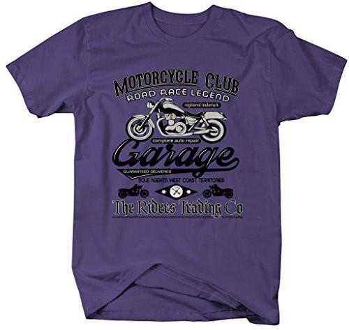 Shirts By Sarah Men's Motorcycle Club T-Shirt Vintage Biker Tee-Shirts By Sarah