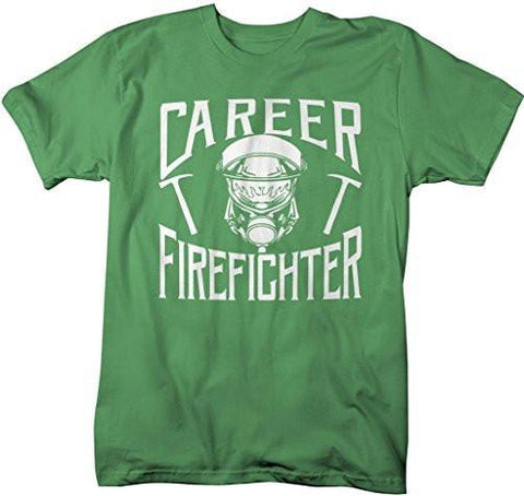 bc064b73 Shirts By Sarah Men's Career Firefighter T-Shirt Fireman Shirts-Shirts By  Sarah