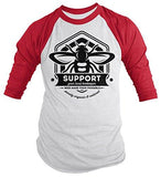 Men's Beekeeper T-Shirt Support Local Bee Keeper Honey 3/4 Sleeve Raglan-Shirts By Sarah