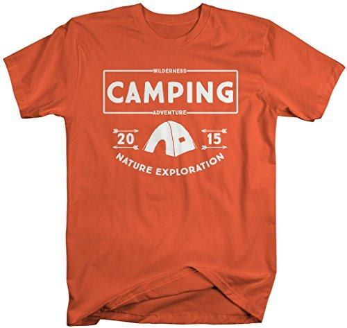 Shirts By Sarah Men's Camping T-Shirt 2015 Wilderness Adventure Camper Shirts-Shirts By Sarah