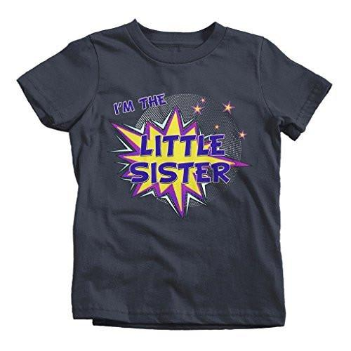 Shirts By Sarah Girl's I'm The Little Sister T-Shirt Comic Superhero Shirt-Shirts By Sarah