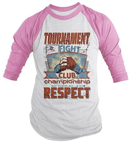 Shirts By Sarah Men's Mixed MMA Tournament 3/4 Sleeve Raglan Shirt Champion Respect Martial Arts-Shirts By Sarah