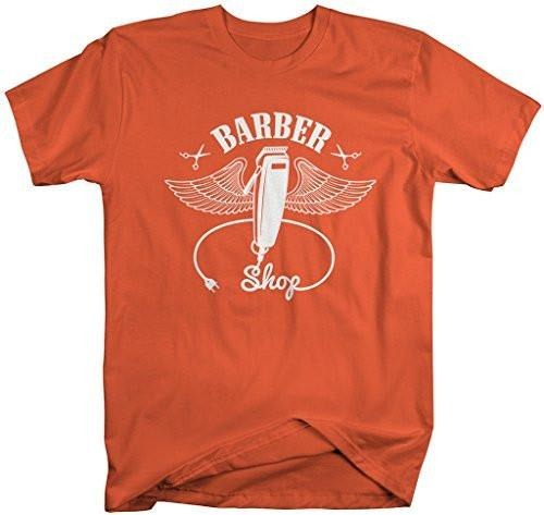 Shirts By Sarah Men's Barber Shirts Clippers Wings Clippers Shirt For Barbers-Shirts By Sarah