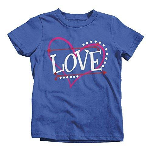 Shirts By Sarah Kids Love Heart Funny Valentines Day T-Shirt Boy's Girl's Toddler-Shirts By Sarah