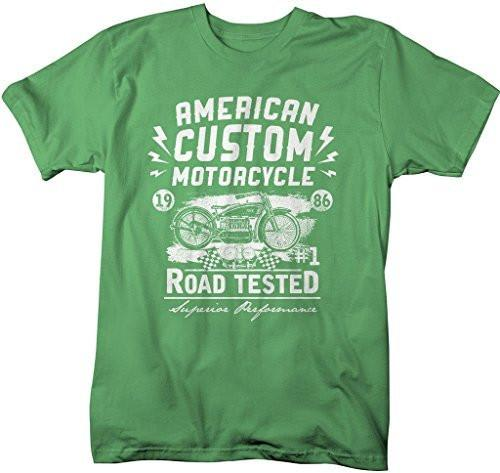 Shirts By Sarah Men's American Custom Motorcycle Vintage Retro Biker Shirt-Shirts By Sarah